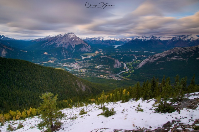 This is the vastness of the Bow River Valley as seen from Sulphur Mountain.