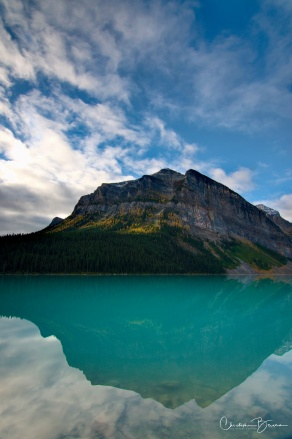 I believe this is Fairview Mountain, which flanks Lake Louise to the left when seen from the Chateau.
